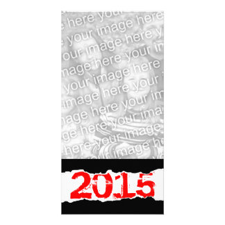 2015 (torn paper) photo greeting card