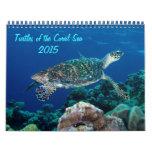 2015 tortugas del calendario del mar de coral