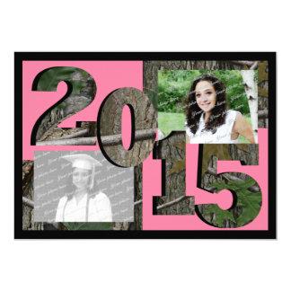 2015 Tree Camo Grad Twin Photo Pink Card