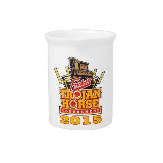 2015 Trojan Horse Logo Designs Beverage Pitcher
