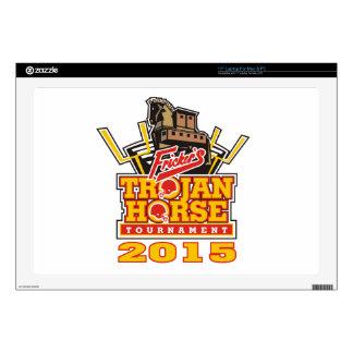 "2015 Trojan Horse Logo Designs Decal For 17"" Laptop"