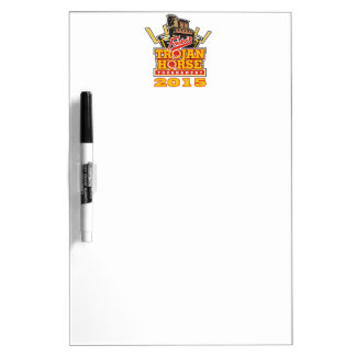 2015 Trojan Horse Logo Designs Dry-Erase Board