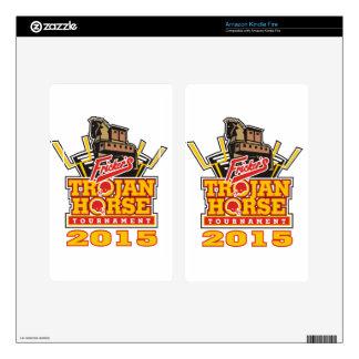 2015 Trojan Horse Logo Designs Skins For Kindle Fire