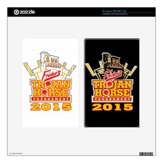 2015 Trojan Horse Logo (on darks) Decals For Kindle Fire