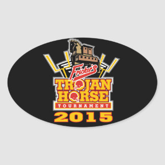 2015 Trojan Horse Logo (on darks) Oval Sticker