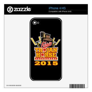 2015 Trojan Horse Logo (on darks) Skin For iPhone 4S