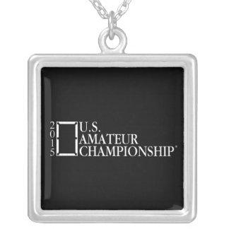 2015 U.S. Amateur Logo Silver Plated Necklace