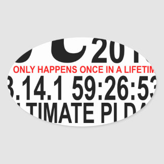 2015 Ultimate Pi Day Tee.png Oval Sticker