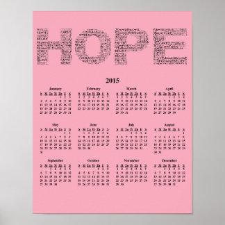 2015: Un año de calendario de pared de la Póster