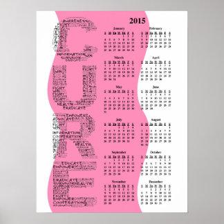 2015: Un año para el calendario de pared anual de Posters