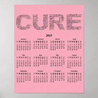 2015: Un año para el calendario de pared de la Poster