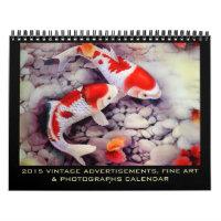 2015 Vintage Ads, Fine Art and Photos Wall Calendars