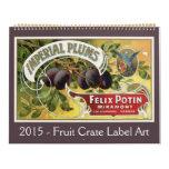 2015 Vintage Americana, Fruit Crate Label Art Wall Calendar