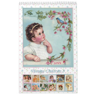 2015 Vintage Children Calendar 3