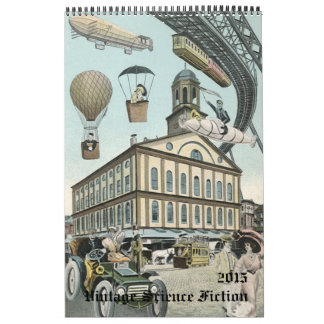 2015 Vintage Steampunk Science Fiction Sci Fi Calendar