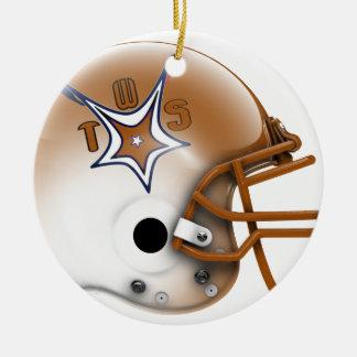 2015 Wallies Texas Stars Ceramic Ornament