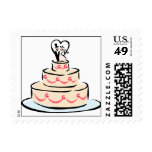 2015 Wedding Cake Invitation Stamps