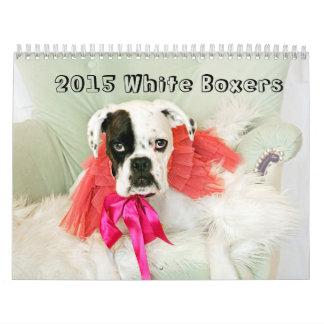 2015 White Boxer Calendar