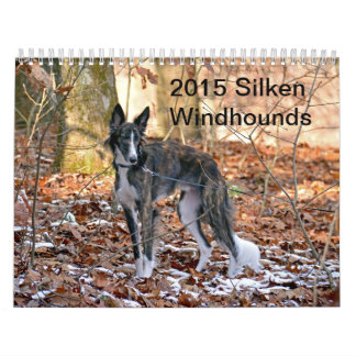 2015 Windhounds de seda Calendario De Pared
