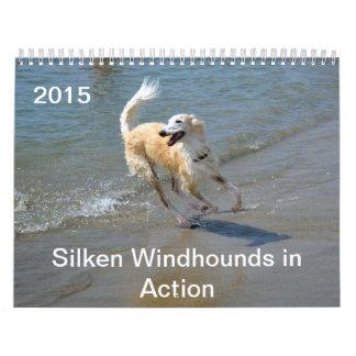 2015 Windhounds de seda en la acción Calendario De Pared
