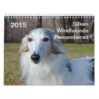 2015 Windhounds de seda recordado Calendario De Pared