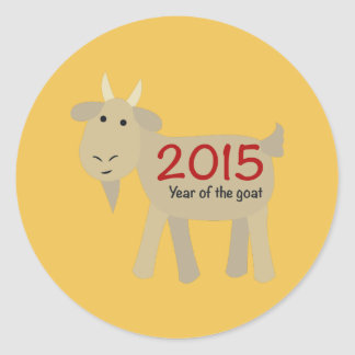 2015 Year Of the Goat Classic Round Sticker