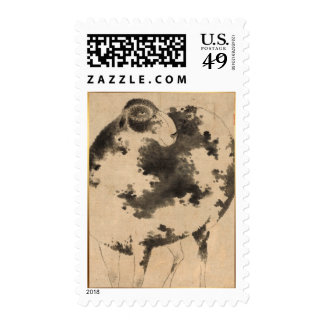 2015 Year of the Goat & Ram - Chinese painting Stamp