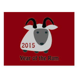 2015  Year of the Ram Postcard