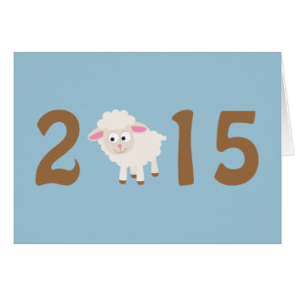 2015 - Year of the sheep design Stationery Note Card