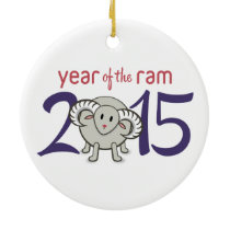 2015 Year of the Sheep/Goat/Ram Ceramic Ornament