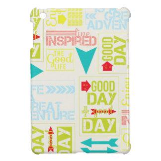 20169 LIFE GOOD GREAT ADVENTURE INSPIRED COLORFUL iPad MINI CASE