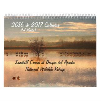 2016/2017 reserva de los animales de los pájaros calendarios de pared