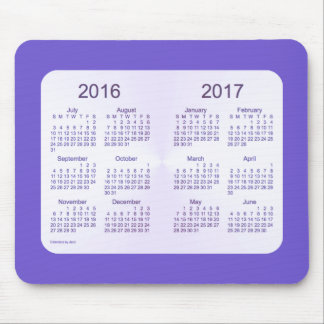 2016-2017 School Year Slate Blue Calendar by Janz Mouse Pad
