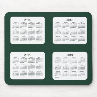 2016-2019 Green Calendar by Janz Mousepad