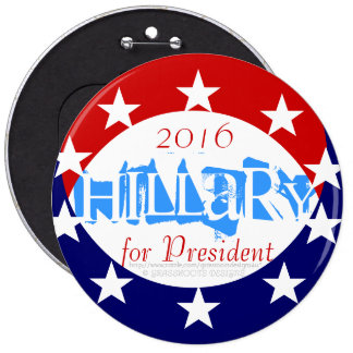 """2016 6"""" Coin Reveals Hillary for President Button"""