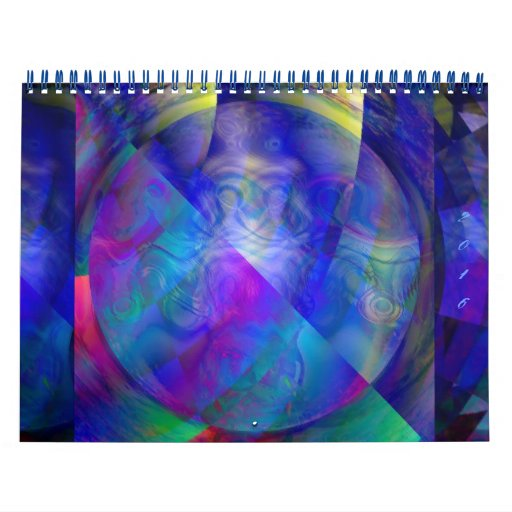 Calendar Abstract Art : Across the universe abstract art calendar zazzle