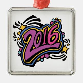 2016 ADORNO NAVIDEÑO CUADRADO DE METAL