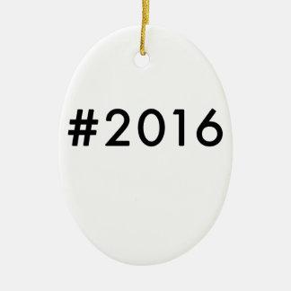 2016 ADORNO NAVIDEÑO OVALADO DE CERÁMICA