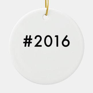 2016 ADORNO NAVIDEÑO REDONDO DE CERÁMICA