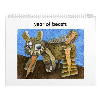 2016 años de bestias calendarios