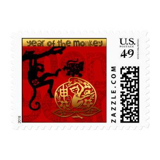2016 años del Año Nuevo chino del mono - franqueo Sellos Postales
