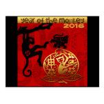 2016 años del Año Nuevo chino del mono Tarjetas Postales