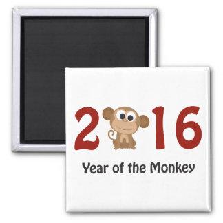 2016 años del mono imán cuadrado