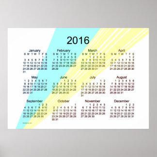 2016 Art Calendar by Janz Poster