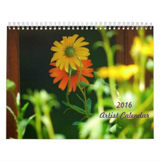 2016 Artist Calendar
