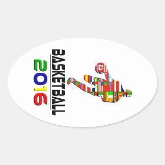 2016: Basketball Oval Sticker