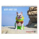 2016 Beach Babes French Bulldog Calendar