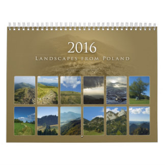 2016   Beautiful Landscapes from Poland Calendar