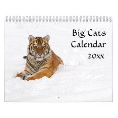 2016 Big Cats Calendar at Zazzle