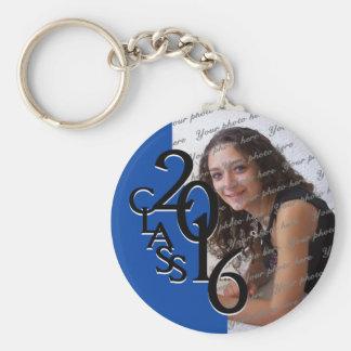 2016 Blue Graduation Keepsake Keychain